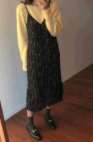 Lemon Heart Chiffon Dress