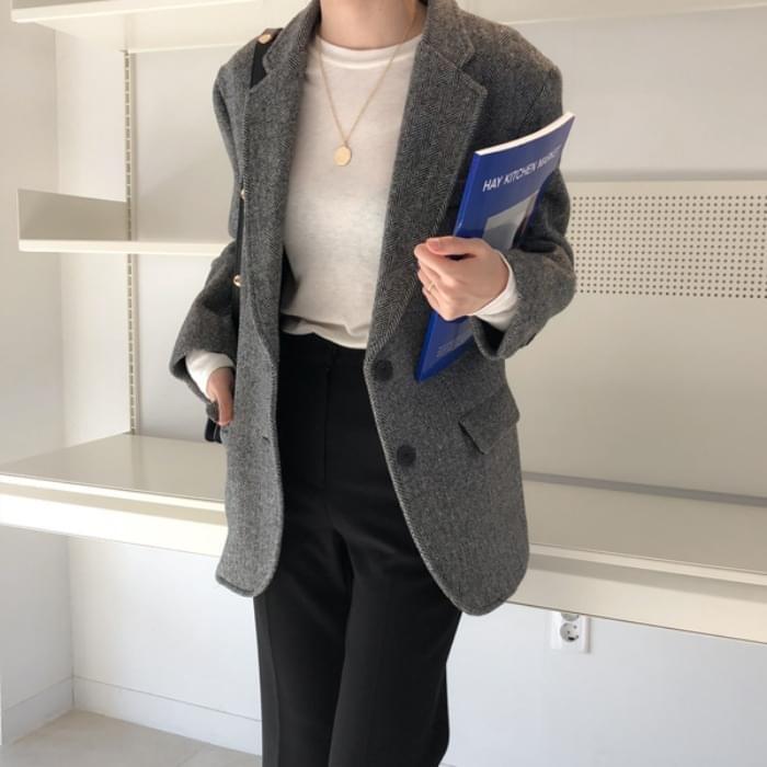 Taylor Herringbone Wool Jacket