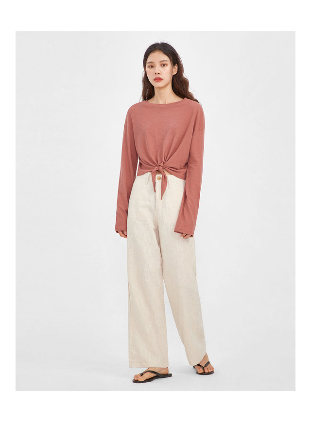 pico linen wide pants (s, m)