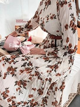 Flower Laurent Long Dress