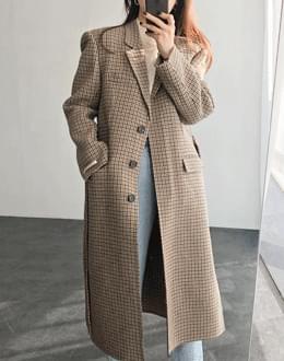 마르셀 체크 coat (*2color) 블랙
