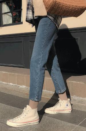 Vintage Medium Tone Cropped Pants