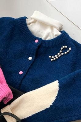Heart color cardigan