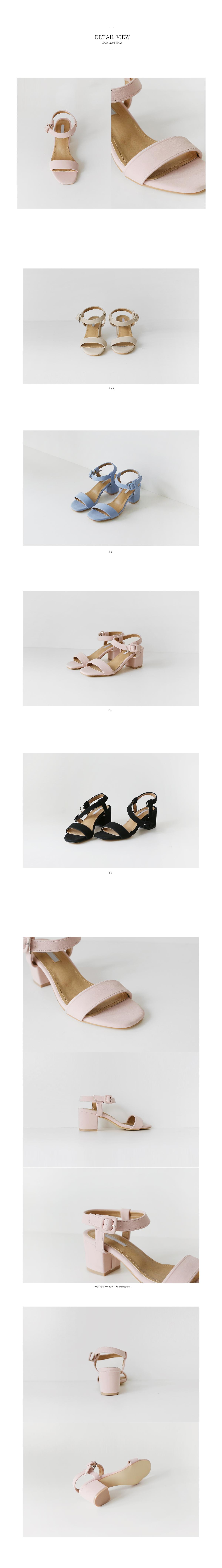 pastel colors strap middle heels(4colors)