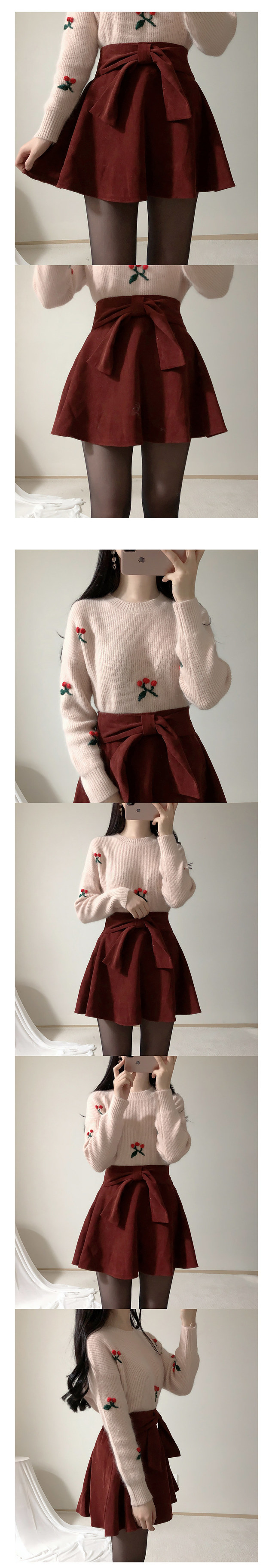 Romantic ribbon mini sk