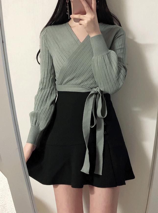 Seri wrapped ribbon knit