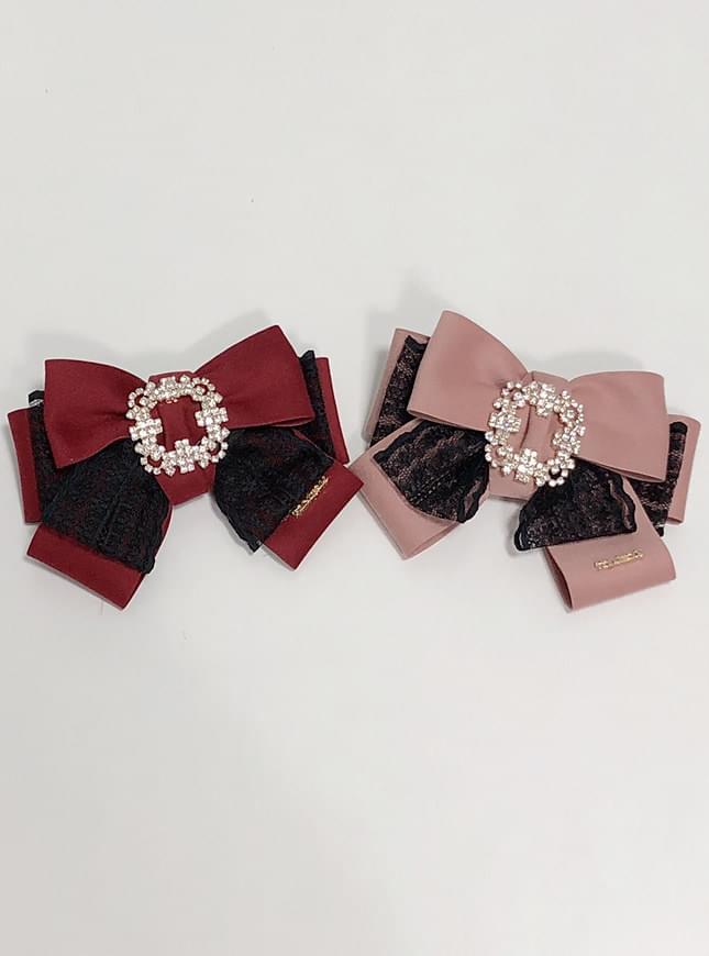 Square Lace Ribbon Brooch