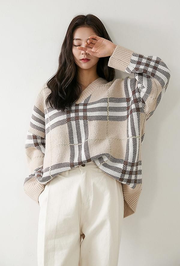 Leung Check Knit