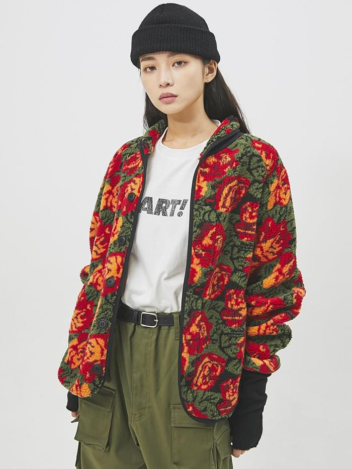 rose shawl collar dumble cardigan - UNISEX