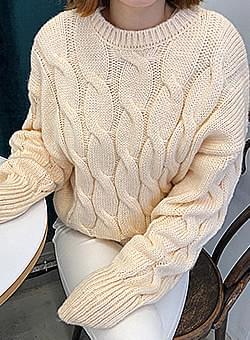 Round neck knitwear knit