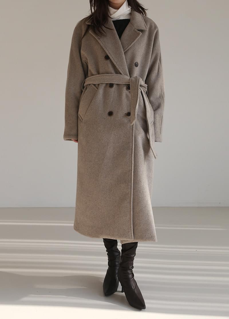 Double basic long coat