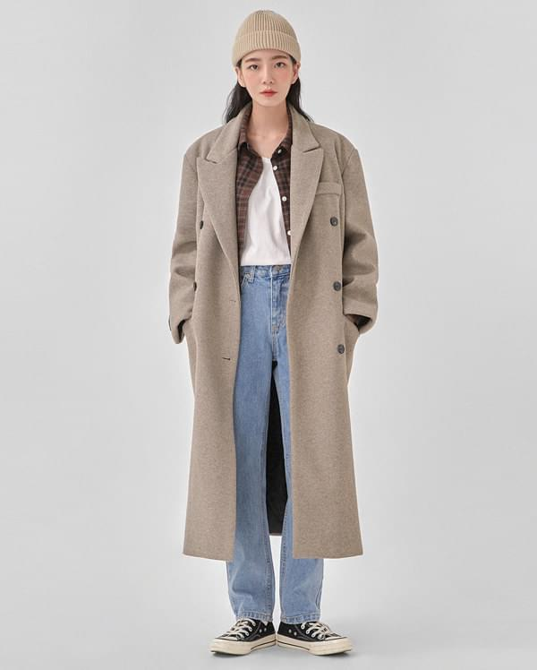 bay two button over fit coat