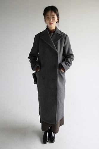 tailored double long coat