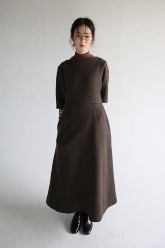 classy half wool one-piece