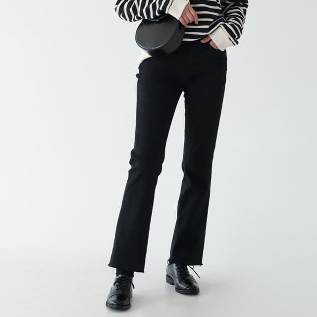 soft slim boots-cut pants