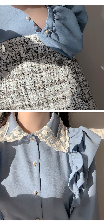 Bella Lace color blouse