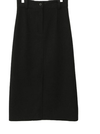 H-line knitted geared skirt