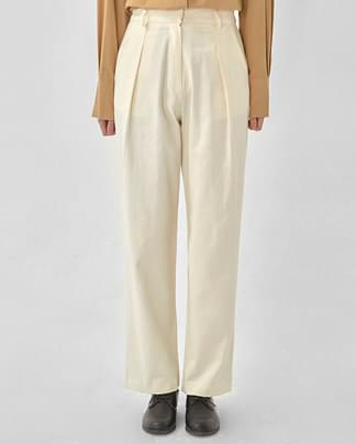 george pintuck cotton wide pants