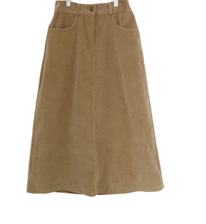 Corduroy Happy Long Skirt