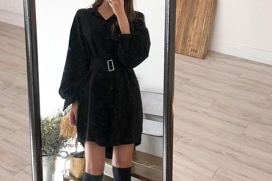 Belt Dyne Shirt Dress