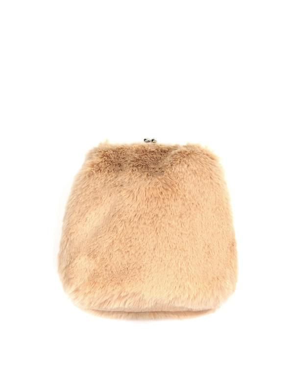fur clutch mini bag