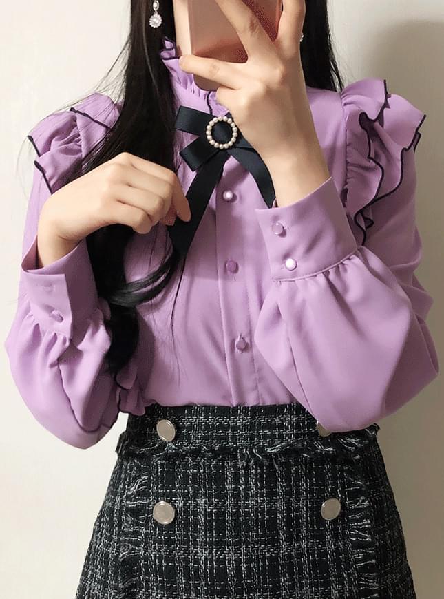 Order runaway ♥ brooch set Ami frill blouse