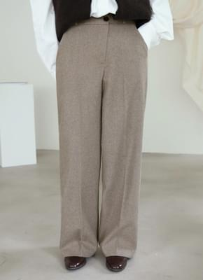 Wool 40 Unbalanced Button Slacks