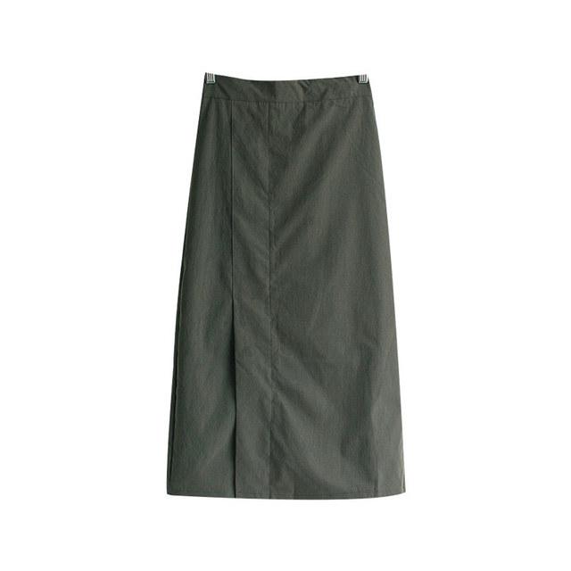 Day line banding long skirt
