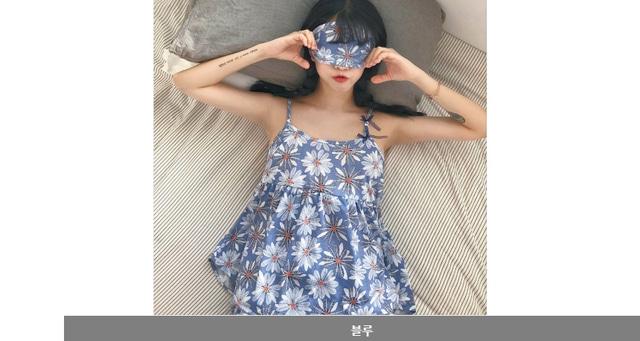 Nashi Double Ribbon Flower Shorts Pajamas