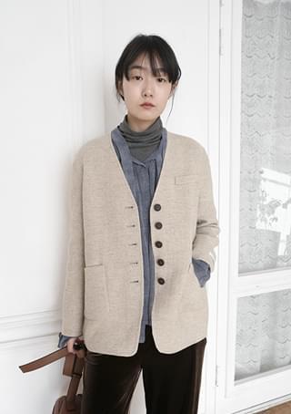 non collar modern jacket (2colors)