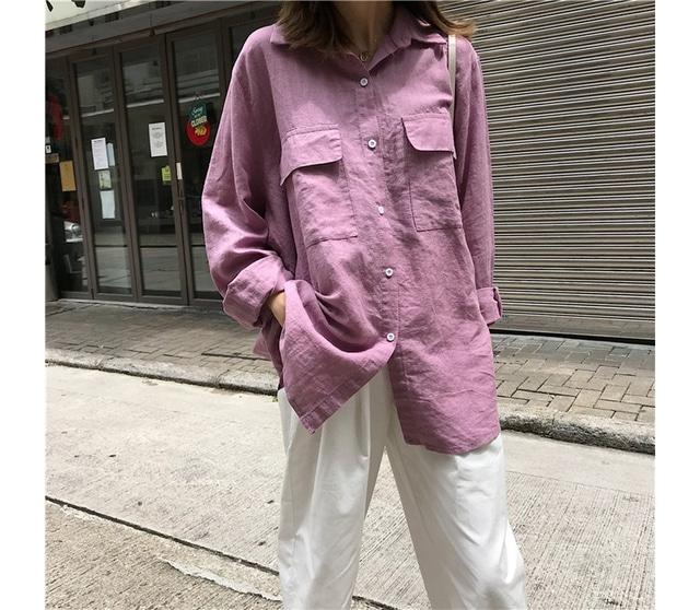 Black Pink Pocket Over Shirt