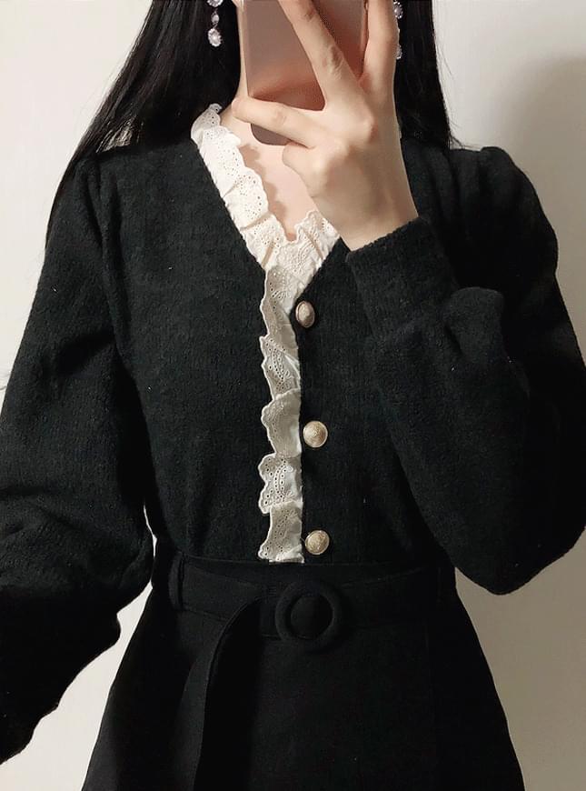 ♥ Romel lace cardigan blouse