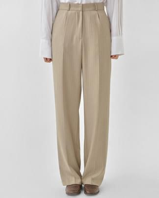 step stripe wide slacks