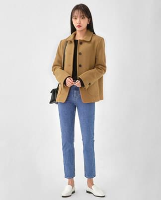 single botton warm wool jaket