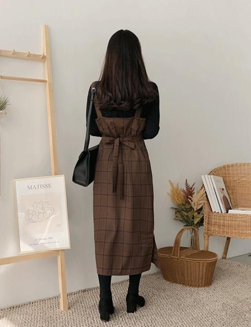 Leone Check Ribbon Dress