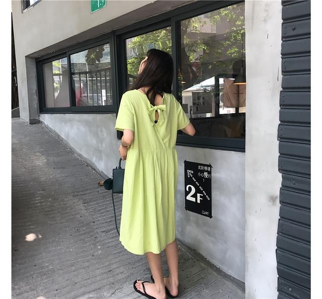Merona short-sleeved pleated long dress