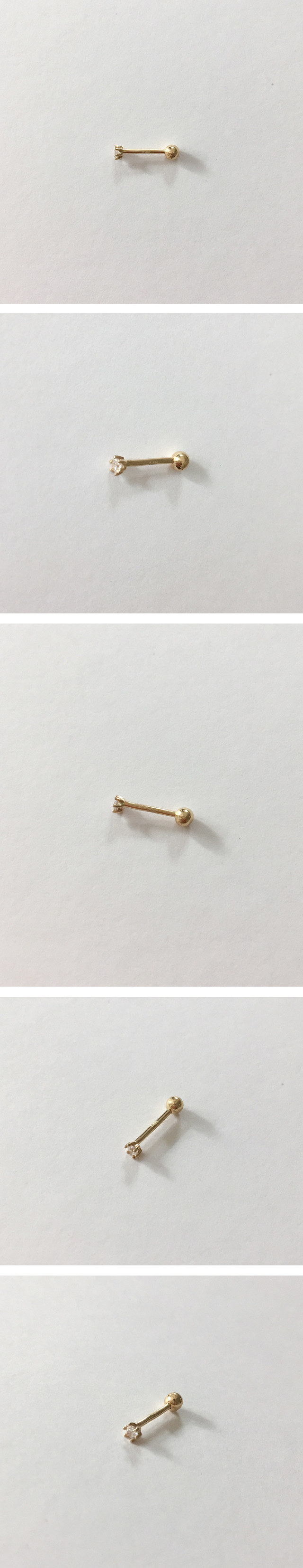 (14k gold) basic gold piercing