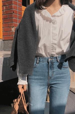 Frill Line Lace Blouse