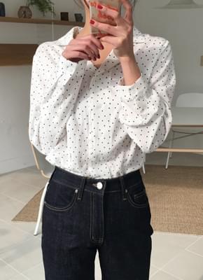 Amy dot blouse