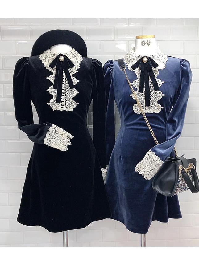 Store _ velvet brooch dress
