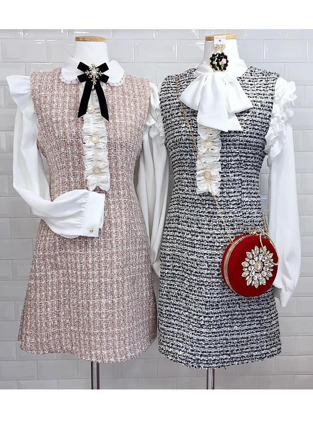 Store _ Tweed Pearl Dress