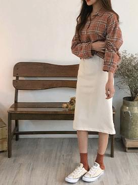 Trimmed Spring Cotton Skirt