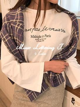 Roulette Mime Lettering T-shirt
