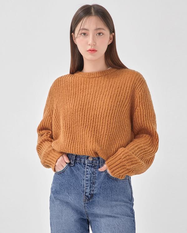 round hachi alpaca knit