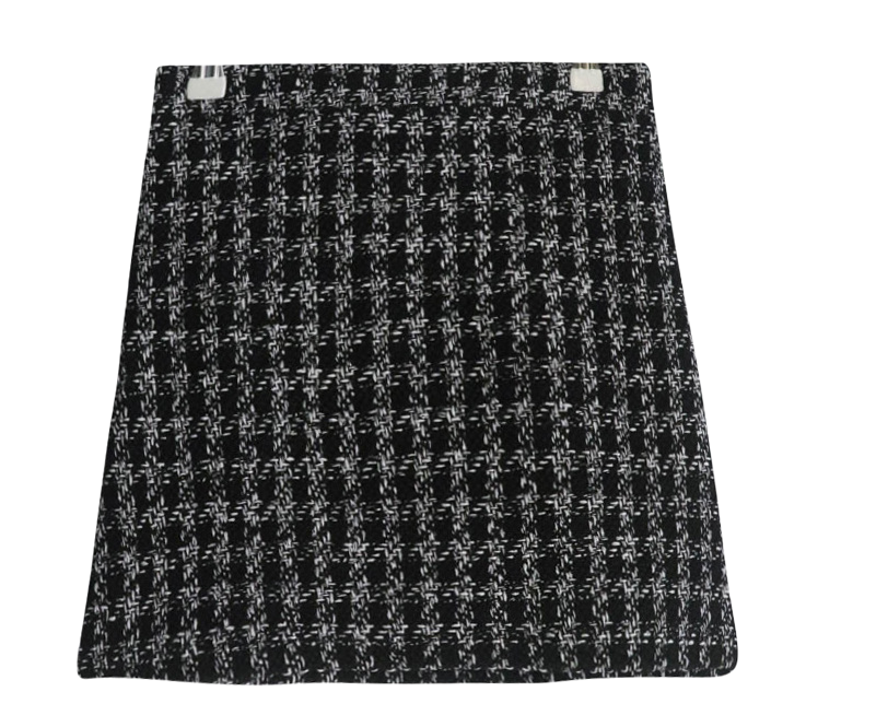 Shine tweed skirt