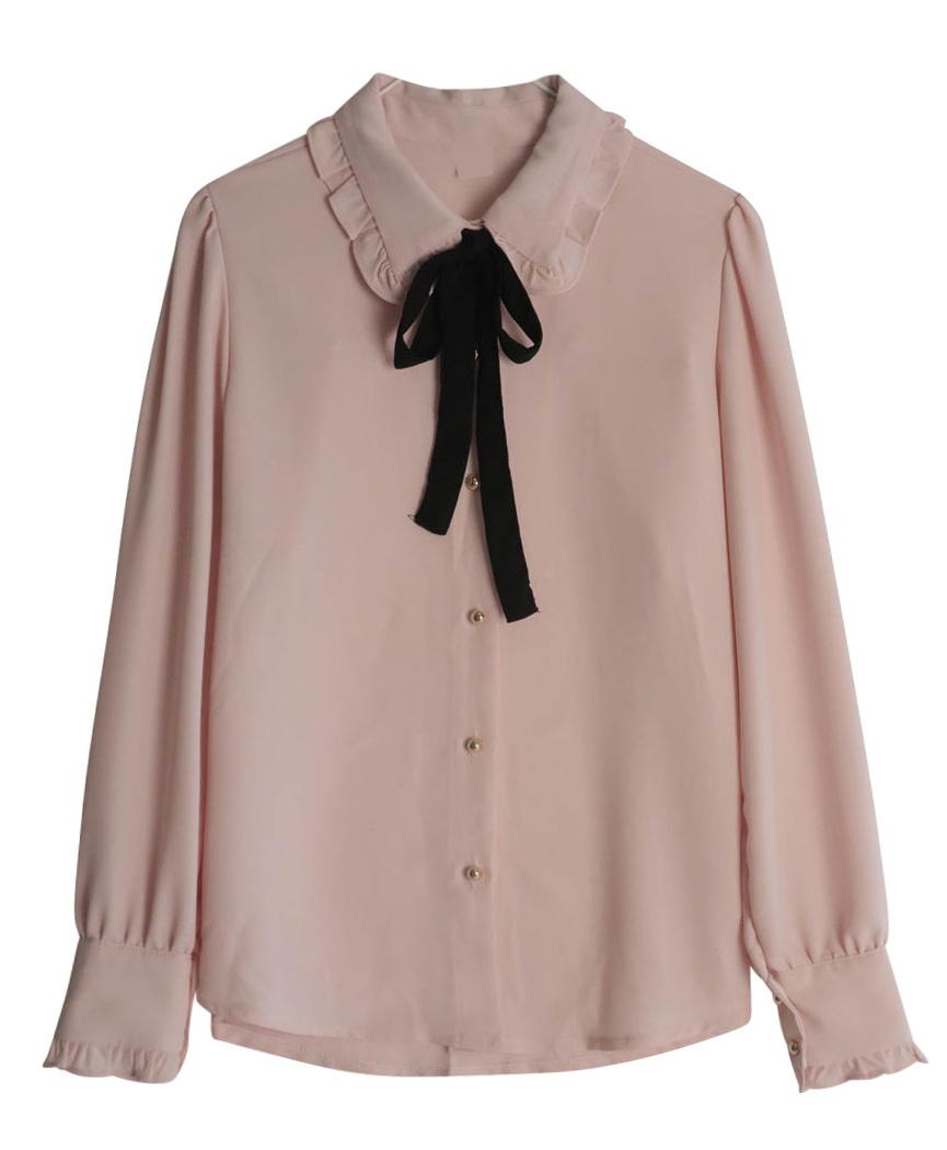 Shrub tie blouse