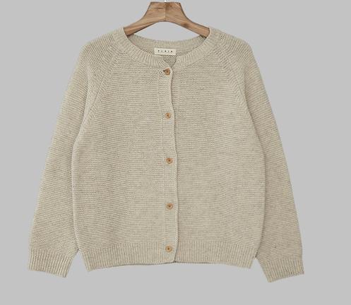 Self-produced / PBP. Donut Button Crop Wool Cardigan