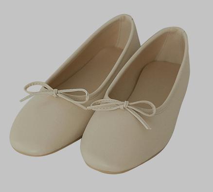 Ribboning-Malten Flat Shoes