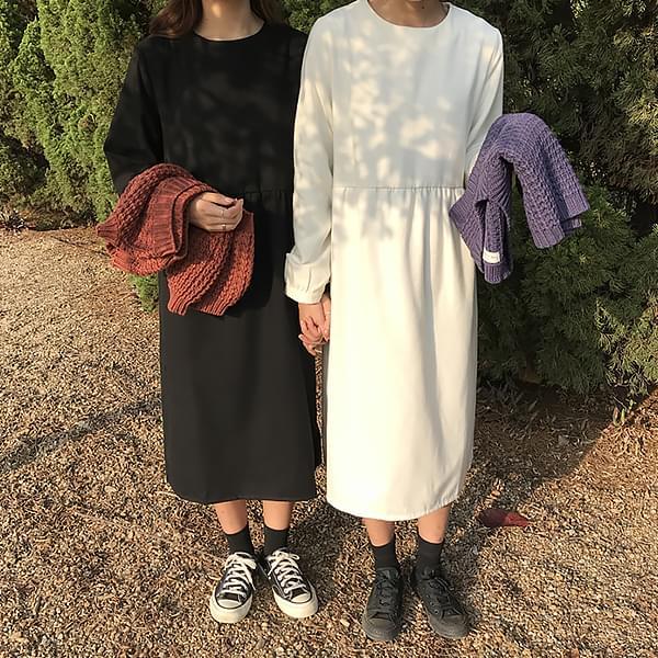 V-neck Vest Best Plain Long Dress Set
