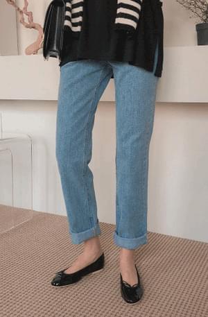 Boyfit Roll-up Denim Pants